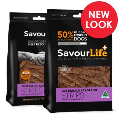 SavourLife Australian Kangaroo Strips Treats For Dogs 165gm
