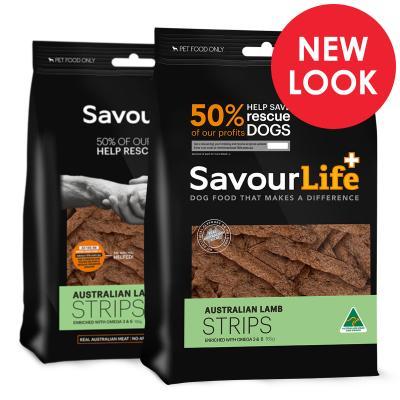 SavourLife Australian Lamb Strips Treats For Dogs 165gm