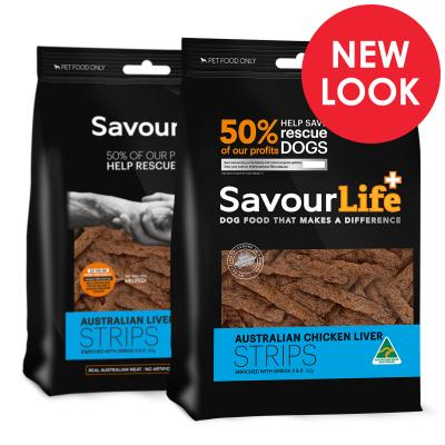 SavourLife Australian Liver Strips Treats For Dogs 165gm