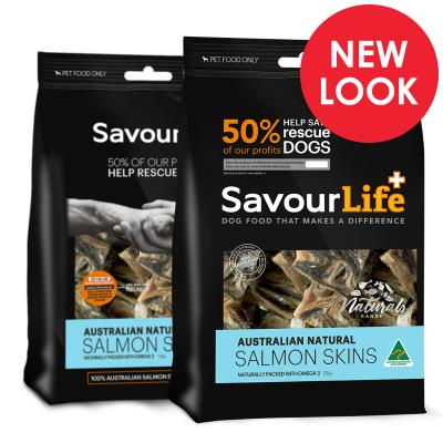SavourLife Salmon Skins Treats For Dogs 125gm