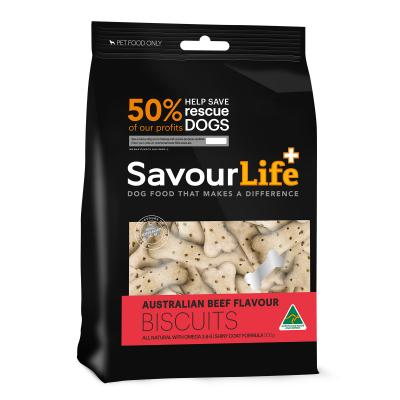 SavourLife Australian Beef Flavour Biscuit Treats For Dogs 500gm