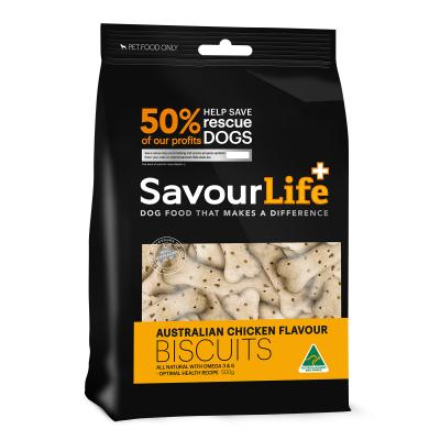 SavourLife Australian Chicken Flavour Biscuits Treats For Dogs 500gm