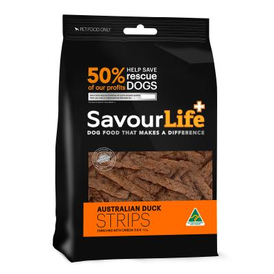 SavourLife Australian Duck Strips Treats For Dogs 150gm