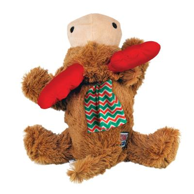 KONG Holiday Christmas Cozie Reindeer Medium Plush Squeak Toy For Dogs