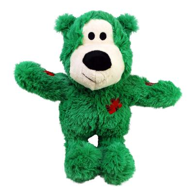 KONG Holiday Christmas Wild Knots Bear Assorted Colours Medium Large Toy For Dogs