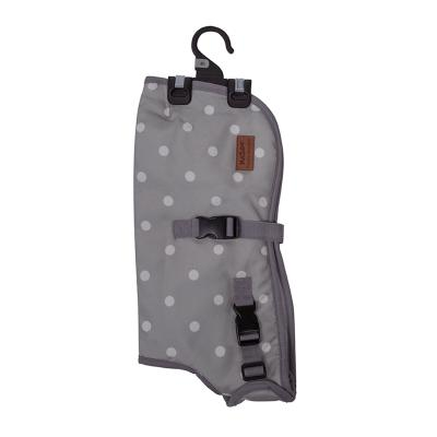 Kazoo Funky Nylon Dog Coat Cream Polkadot Intermediate 53cm