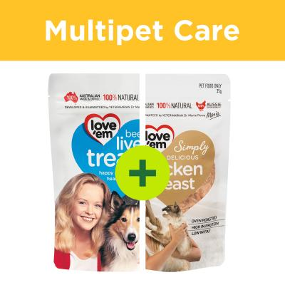 Multipet Plus - Love 'em Treats For Dogs And Cats