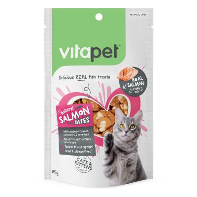 Vitapet Natural Salmon Bites Treats For Cats 85g