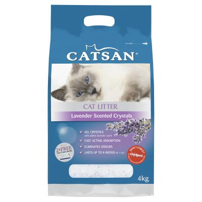 Catsan Crystal Lavender Scented Litter For Cats 4kg