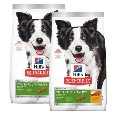 Hills Science Diet Youthful Vitality Chicken And Rice Recipe 7+ Mature/Senior Dry Dog Food 11.34kg
