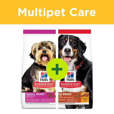 Multipet Plus - Hills Science Diet Dry Food For Large And Small Dogs