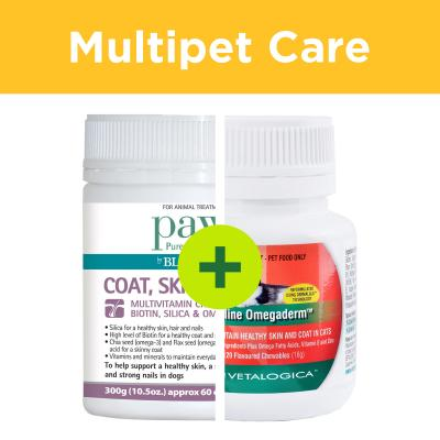 Multipet Plus - Skin And Coat Care Supplements For Dogs And Cats