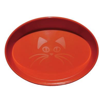 Scream Oval Whisker Bowl Loud Orange For Cats 300ml