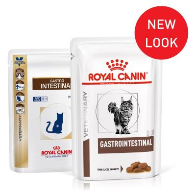 Royal Canin Veterinary Diet Feline GastroIntestinal Pouch Wet Cat Food 100gm x 12 (XF053)