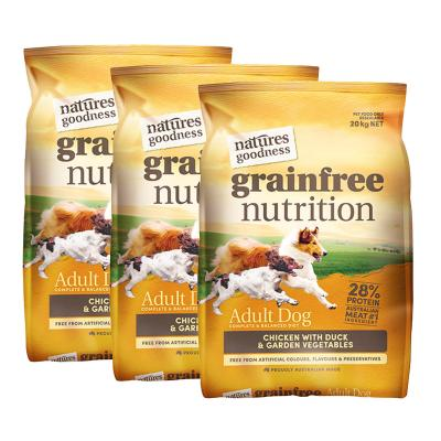 Natures Goodness Grain Free Chicken Duck And Garden Vegetables Dry Dog Food 60kg