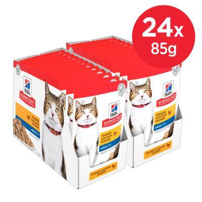 Hills Science Diet Active Longevity Chicken Mature/Senior 7+ Pouches Wet Cat Food 85gm x 24