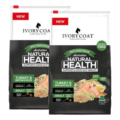 Ivory Coat Turkey And Brown Rice Large Breed Adult Dry Dog Food 36kg