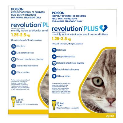 Revolution Plus For Kittens And Small Cats 1.25-2.5kg 4 Pack