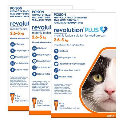 Revolution Plus For Medium Cats 2.6-5kg 8 Pack