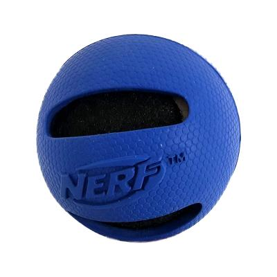 NERF Retriever Rubber Tennis Ball Blue Interactive Toy For Dogs