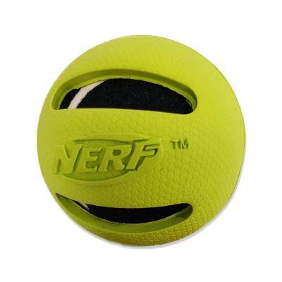 NERF Retriever Rubber Tennis Ball Green Interactive Toy For Dogs