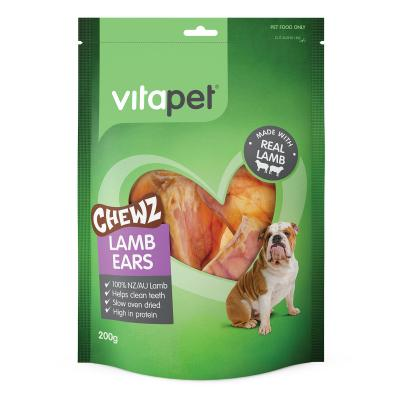 Vitapet Chewz Lamb Ears Treats For Dogs 200gm