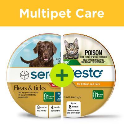 Multipet Plus - Advantage Seresto Flea Collar For Cats And Flea and Tick Collar For Dogs