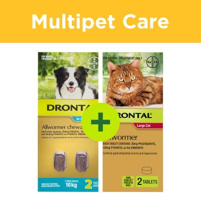 Multipet Plus - Drontal Allwormer For Dogs And Cats