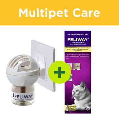 Multipet Plus - Feliway Calming And Scratching Solutions For Multicat Homes