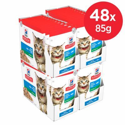 Hills Science Diet Ocean Fish Kitten Pouches Wet Cat Food 85gm x 48