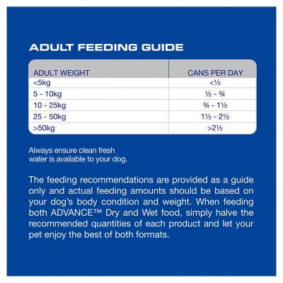 Advance Chicken Salmon And Rice All Breed Adult Canned Wet Dog Food 700g x 12