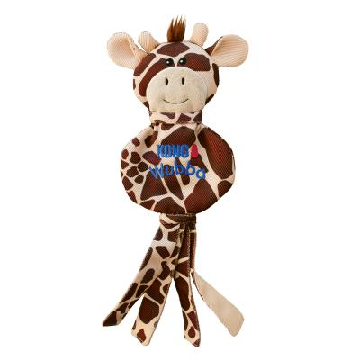 KONG Wubba No Stuff Giraffe Large Squeak Toy For Dogs