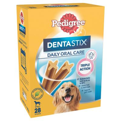 Pedigree Dentastix Daily Oral Care Dental Stick Large Value 28 Pack Treat For Dogs 1080g