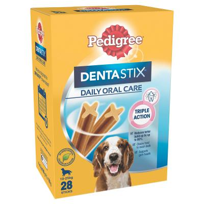 Pedigree Dentastix Daily Oral Care Dental Stick Medium Value 28 Pack Treat For Dogs 720g