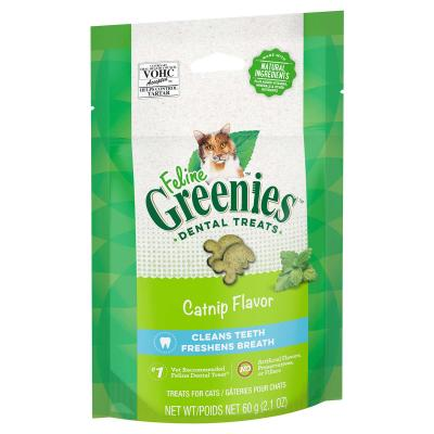 Greenies Feline Dental Treats Catnip Flavour For Cats 60g