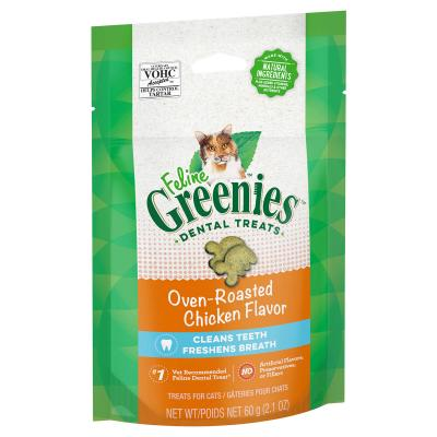 Greenies Feline Dental Treats Roasted Chicken Flavour For Cats 60g