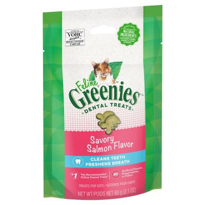 Greenies Feline Dental Treats Salmon Flavour For Cats 60g