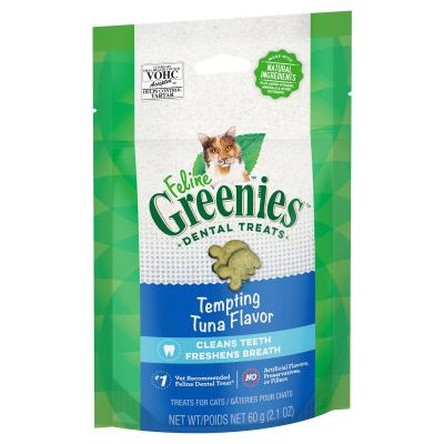 Greenies Feline Dental Treats Tuna Flavour For Cats 60g