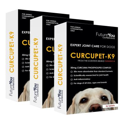 Curcupet K9 Expert Joint Care Curcumin Turmeric Supplement For Dogs 56 Tablets x 3