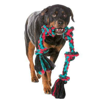 Mammoth Flossy Chews Five Knot Super Giant X-Large Rope 1.8m Various Colours Toy For Dogs