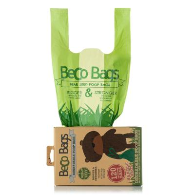 Beco Bags Unscented Extra Large Poop Bags With Handles For Dogs 120 Pack