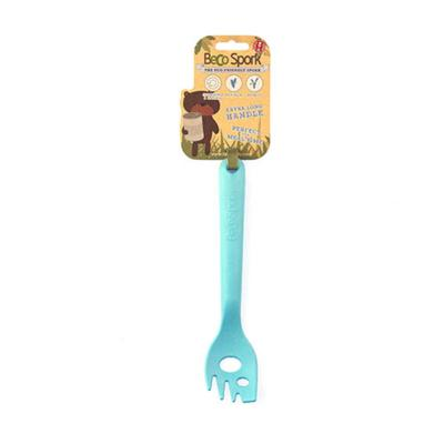 Beco Sustainable Bamboo Eco Friendly Food Spork Scoop Blue For Cats And Dogs