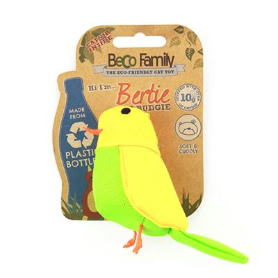 Beco Bertie The Budgie Eco Friendly Catnip Toy For Cats