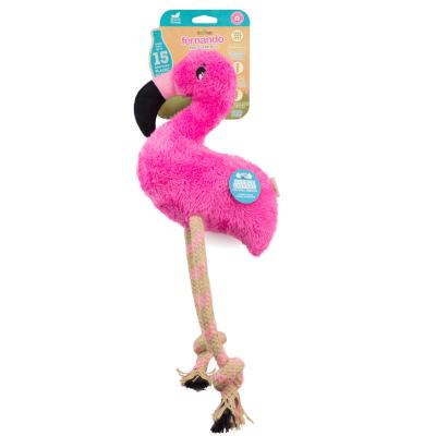 Beco Fernando The Flamingo Eco Friendly Squeak Plush Large Toy For Dogs