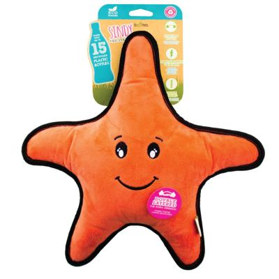 Beco Sindy The Starfish Eco Friendly Rough And Tough Squeak Plush Large Toy For Dogs