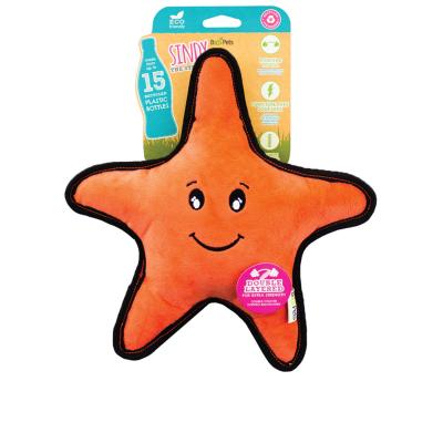 Beco Sindy The Starfish Eco Friendly Rough And Tough Squeak Plush Medium Toy For Dogs
