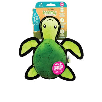 Beco Tommy The Turtle Eco Friendly Rough And Tough Squeak Plush Medium Toy For Dogs