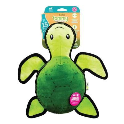 Beco Tommy The Turtle Eco Friendly Rough And Tough Squeak Plush Large Toy For Dogs
