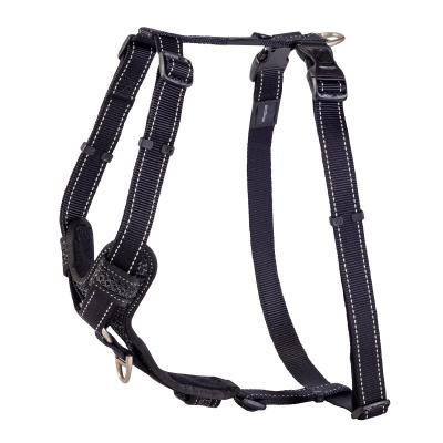 Rogz Control Reflective Padded Harness Black XLarge For Dogs 60-100cm Girth
