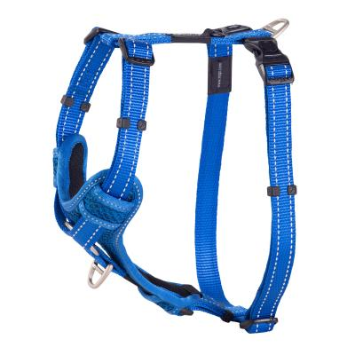 Rogz Control Reflective Padded Harness Blue Large For Dogs 45-75cm Girth